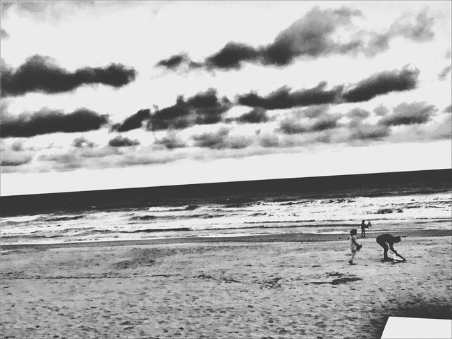 Sea Beach Two People Shore Water Horizon Over Water Sand Real People Nature Sky Cloud - Sky Outdoors Day Scenics Nature Blackandwhite Beauty Happiness Dreams Hopes And Dreams Lifestyles Blancoynegro Rêve Instamoment Life Investing In Quality Of Life The Week On EyeEm Your Ticket To Europe