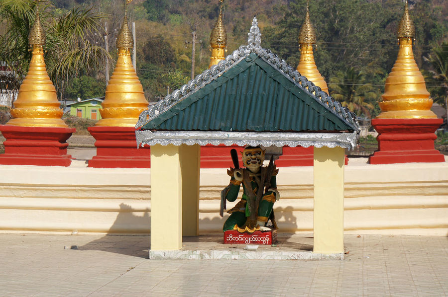 Traveling in the Shan State of Myanmar Shan State Architecture Built Structure Day Human Representation Myanmar No People Outdoors Place Of Worship Religion Sculpture Spirituality Statue Tree