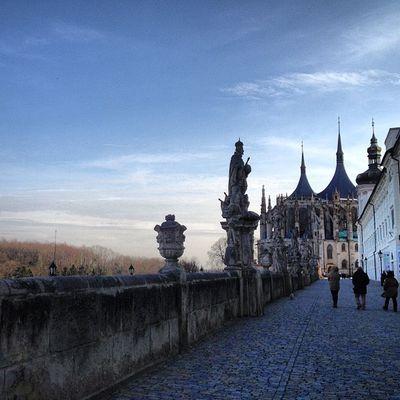 Walking to St Barbora Church Stbarbora Whereschesa