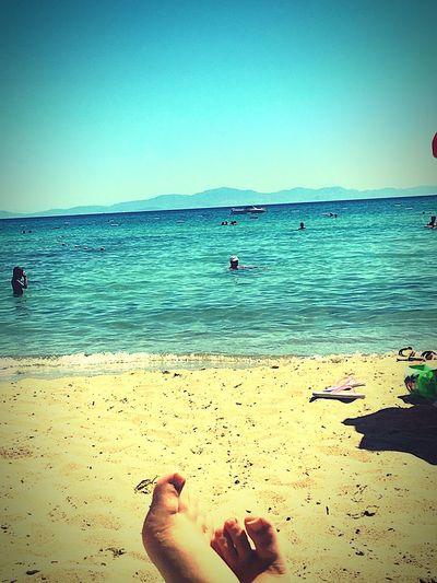 First Eyeem Photo Summer ☀ Sand & Sea Bluewaves Relaxing Dydma Feetselfie