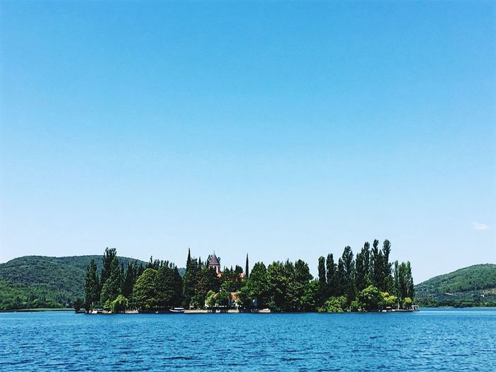 Boat trip at national park Krka 🇭🇷 Croatia Krka National Park National Park Water Tree Plant Sky Clear Sky Waterfront Beauty In Nature Nature No People Blue Idyllic Outdoors