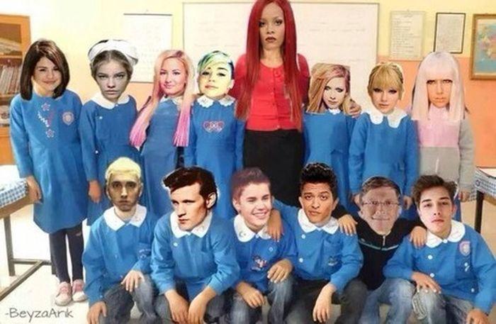 Rihanna Selena Gomez  WTF Hahaha