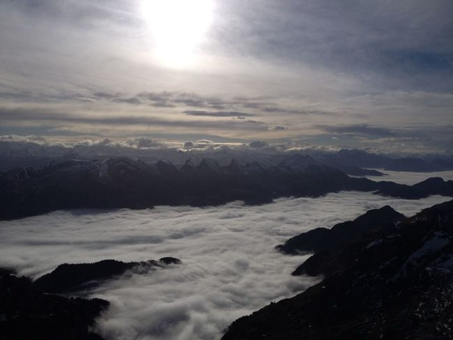 no one knows that'a that amazing up here... Fog Nature Mountains Clouds And Sky