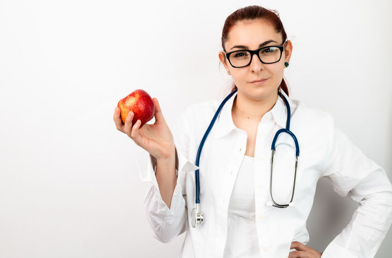 female doctor with apple Apple Doctor  Healthcare Vitamin Medicine Healthy Lifestyle Healthy Eating Essen