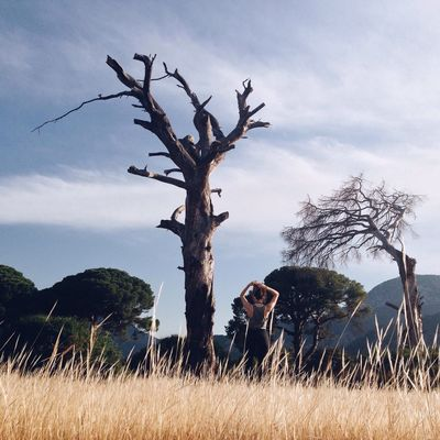 Traveling Cirali Turkey Landscape Landscape_Collection Selftimer Girl Tree Field Sunny Day Sport Time Jogging Fitness Nature's Diversities The Great Outdoors - 2016 EyeEm Awards