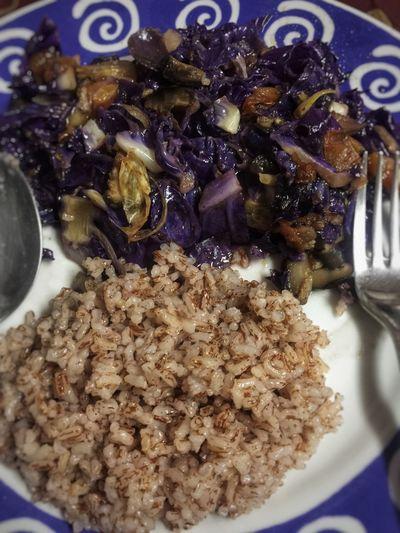 I love the freshness of the violet cabbage. Healthy foodie. 😋😋😋 Nomeat Sauteedveggies Violetcabbage&shiitakemushroom Healthyliving Veggielover Freshness EyeEmNewHere The Week On EyeEm