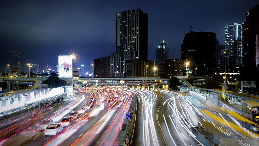 at HungHom Night HongKong Discoverhongkong Longexposure Light And Shadow Night Lights Lighttrails Leica Leicaq Slow Shutter EyeEm Best Shots 香港 夜景