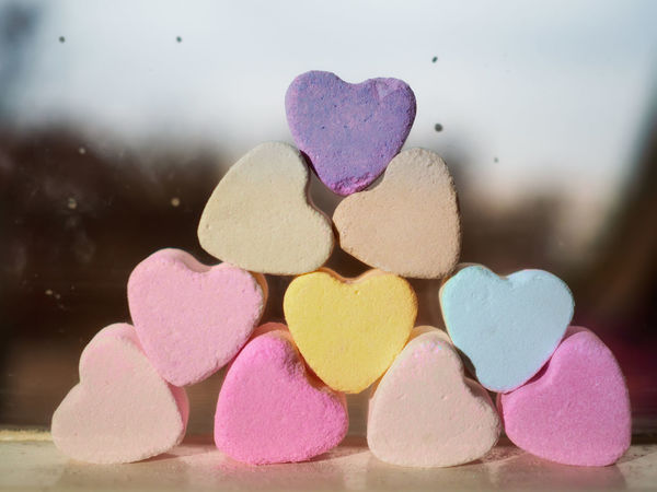 Verda - San Valentine Amore Amour Blur Background Close-up Color Hearts Cuori Cyano Fuscia Heart Heart Shape Hearts Liebe Little Hearts Love Love No People Pink San Valentine San Valentine's Day San Valentino Sky Soaps Stack Valentin Yellow