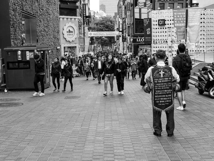 Seoul Korea People Cross Religion B&w Street Photography Leicacamera