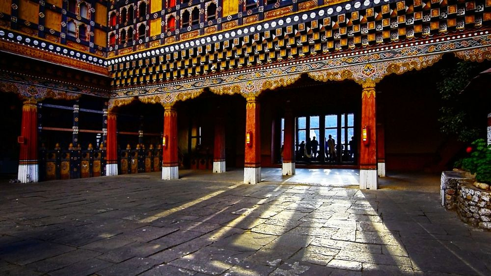 Architecture Business Finance And Industry Cultures History No People Gold Colored Indoors  Day Bhutan Diaries Bhutanese Place Of Worship Bhutan Tranquility Bhutan_places Bhutanese Architecture Architecture Travel Travel Destinations Paro Bhutan