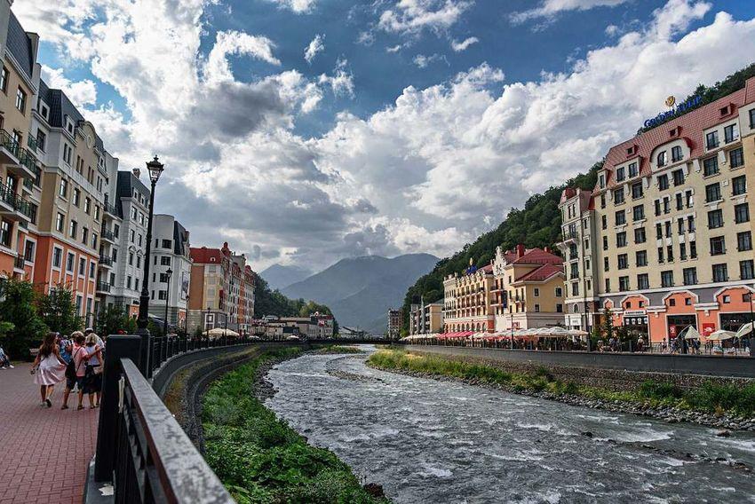 Sochi Krasnaya Polyana Beautiful View Landscape River Mountain Russia LastYear Holidays
