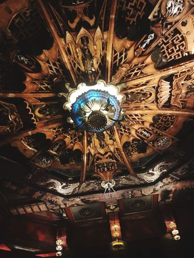 Fabulous Ceiling Lighting Equipment Indoors  Low Angle View Chandelier Hanging No People