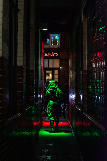ANO - One Night In Soho Series Street Photography Streetphotography Malephotographerofthemonth Alucyart Atmospheric Mood Urban Illuminated City Nightlife Built Structure Neon Neon Colored Electric Light Recessed Light