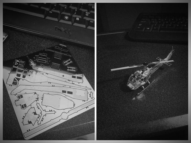 Today :) I Made This! 3d Metal Model Helicopter BeforeAndAfter  Had Fun