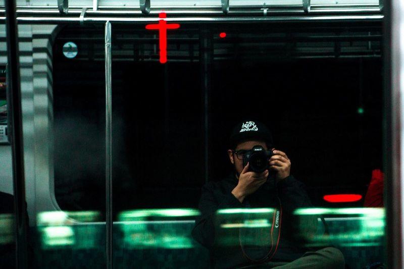 Tokyo Japan 山手線(JR Yamanote Line) Selfportrait
