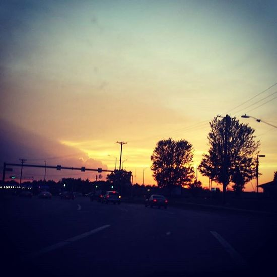 Drivehome Sunset Sunsetdrive Blessed  Wisconsin Eauclaire