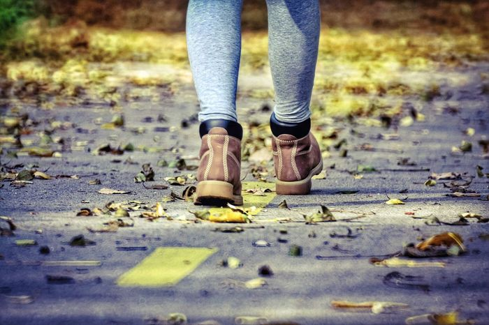 Low Section Human Leg One Person Human Body Part Day Standing Outdoors Road Adult People Close-up Adults Only Nature One Woman Only Nature Atumn Autumn Colors Autumn🍁🍁🍁