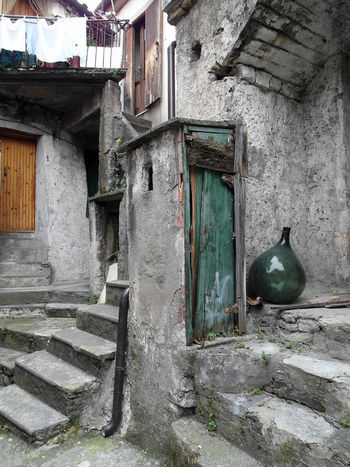 Glimpse with carboy Doors Italia South Italy Stairs Steps Architecture Bottle Building Exterior Built Structure Calabria Carboy Door Glass Glimpse Outdoors Travel Destination Verbicaro