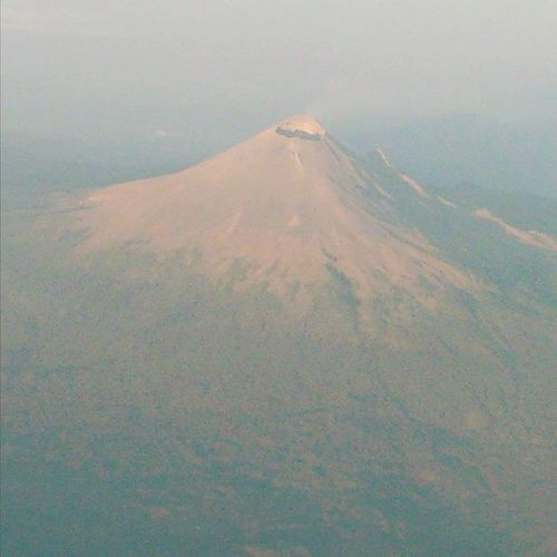Volcán Popocatepet desde las alturas