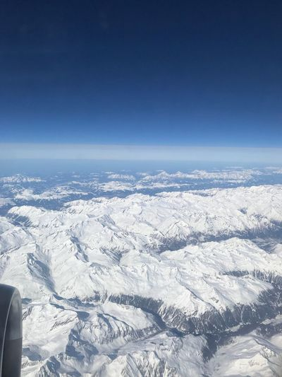 Alps from plane view. View Plane Alps Snow Winter Cold Temperature Nature Beauty In Nature Scenics No People Outdoors Landscape Sky Day Blue