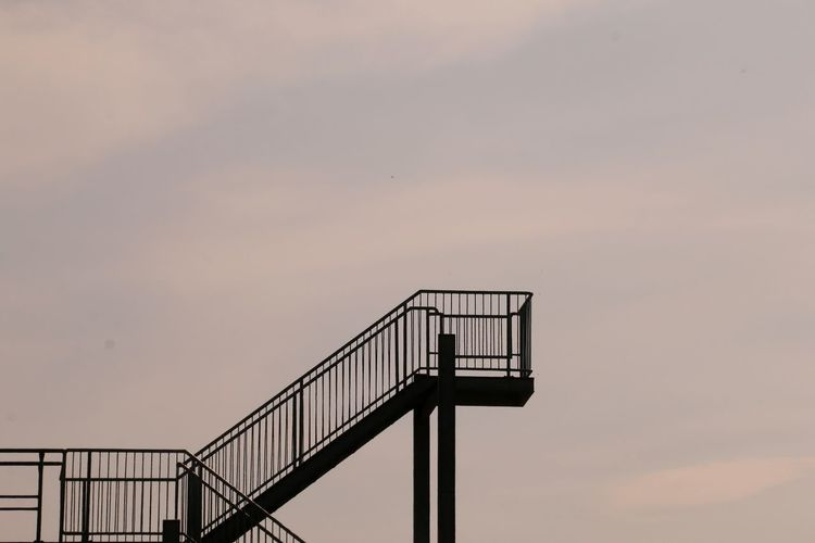 Low Angle View Of Silhouette Staircase Against Sky During Sunset