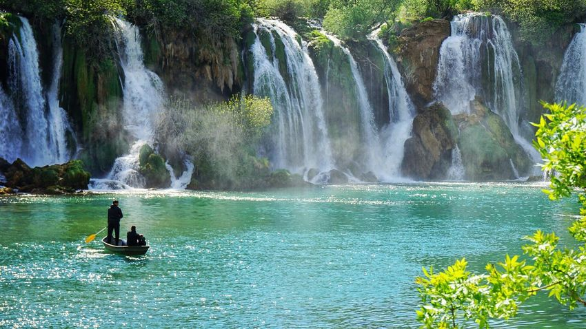 A fairy tale People River Water Nature Beauty Travel Day Waterfall Vacations Adventure Bosnia And Herzegovina Scenics The Great Outdoors - 2017 EyeEm Awards Live For The Story