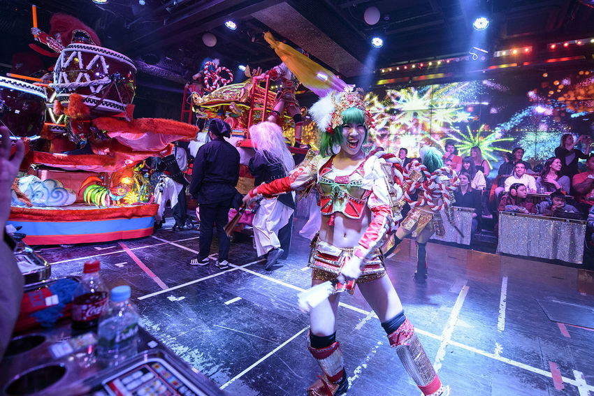 Performance at the Robot Restaurant Arts Culture And Entertainment Colorful Colourful Crowd Dance Dancing Enjoyment Fun Illuminated Indoors  Indoors  Kabukicho Large Group Of People Music Music Nightlife Performance Performer  Performing Arts Event Robot Restaurant Shinjuku Stage - Performance Space Stage Light Young Adult Young Women