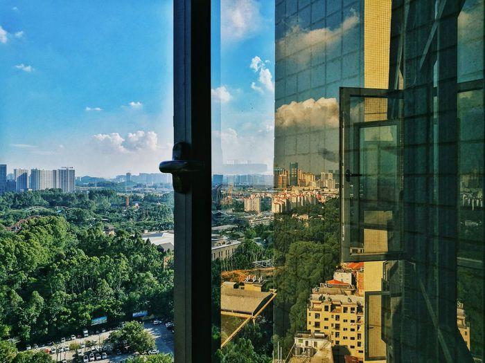 天气晴朗,手机记录窗外的风景~~ ~ Huawei P9 Plus Sunny Day Beautiful Day 晴天 窗外的风景 华为P9 Plus 手机摄影 Mobile Photography