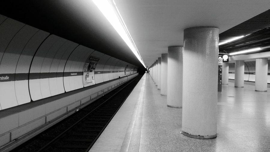 Interior Of Illuminated Subway Station