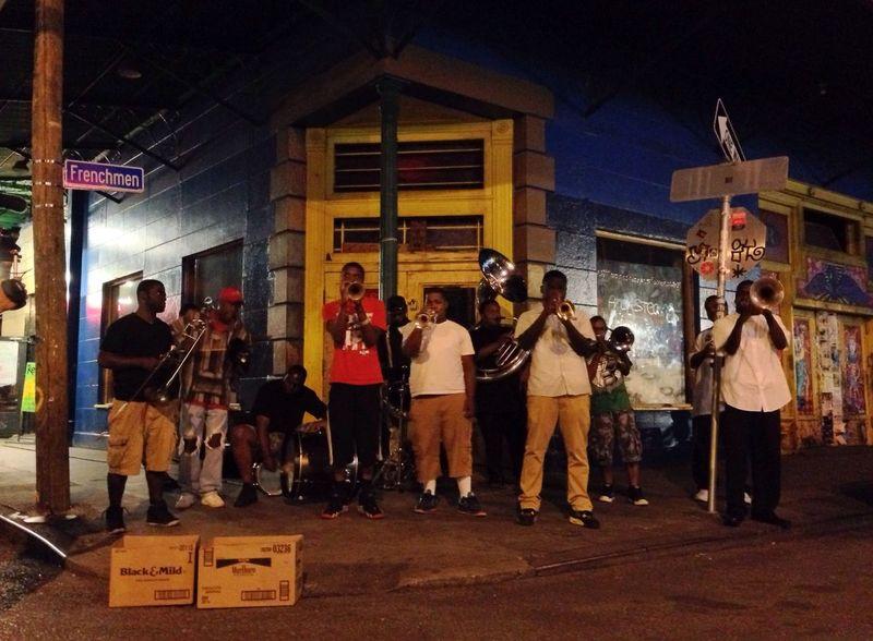 Brass Band on the corner.