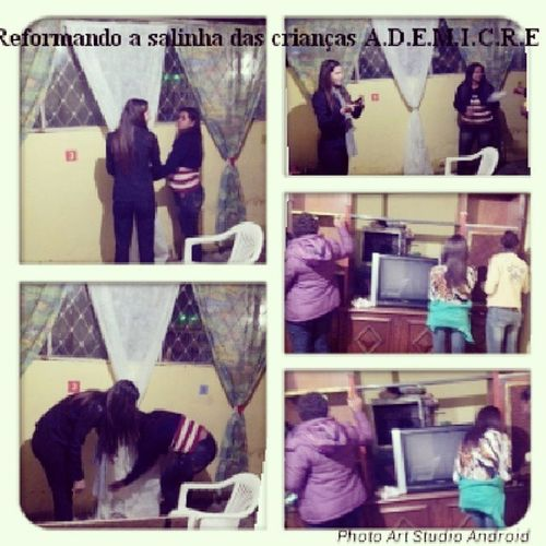 Making of .... Reformando a salinha das crianças .. A.D.E.M.I.C.R.E Leandra Juliana Lorrayne Isabelle