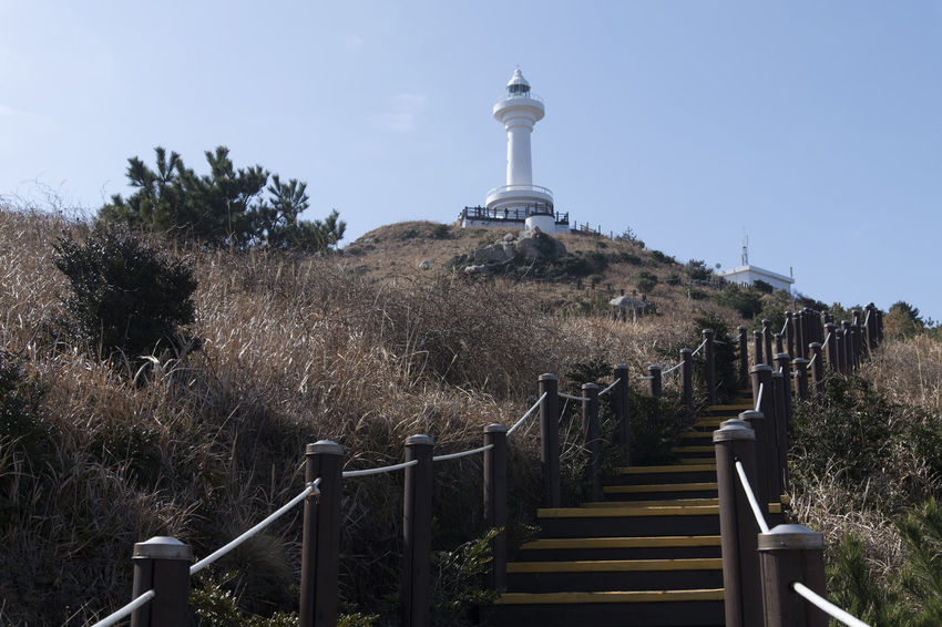 seaside view of Deungdaeseom Island (lighthouse island) by Somaemuldo in the sea of Tongyeong, Gyeongnam, South Korea. Deungdaeseom Island View  Lighthouse Nature's Beauty Nikon D850 Stairway Tongyeong Beauty Of Nature Bright Day D850 Outdoor Outdoors Peace In Island Peaceful Day Peaceful Island Life Seaside Seaside View Somaemuldo Stairway To Lighthouse stairways View Of Island