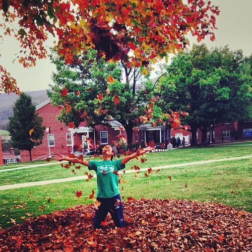 Fall is around. Thequad Potstate Pileofleaves Fall collegefun
