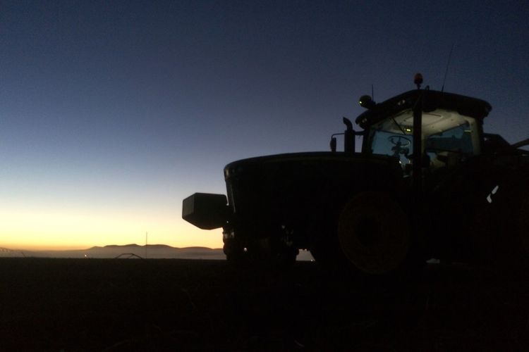 A new day on the farm. Harvest time. Silhouette Farm Life Taking Photos IPSSpace