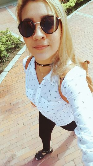 Outdoors Fashion Colombiangirl Cartagena, Colombia Style ✌ Casual Clothing Selfie ✌ Blond Girl Blonde Hair Colombia ♥  Looking At Camera