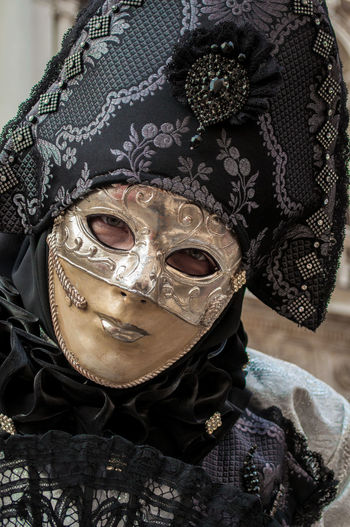 Portrait of person wearing mask