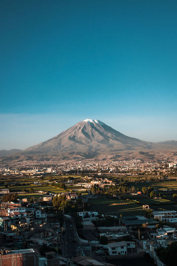 Arequipa vibes. City City Life Cityscape Latin America Misti Adventure Architecture Building Building Exterior Day Explore Idyllic Landscape Minimal Mountain Peak Nature No People Outdoors Residential District Scenics Scenics - Nature Snowcapped Mountain South America Travel Destinations Volcano Capture Tomorrow