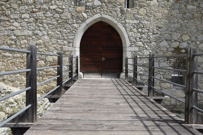 Absence Alto Adige Arch Architecture Brick Wall Building Built Structure Castle Day Diminishing Perspective Door Doorway Drawbridge  Empty Fortress Fortress Wall Italy Narrow No People Outdoors Südtirol The Way Forward Towers Vanishing Point Walkway