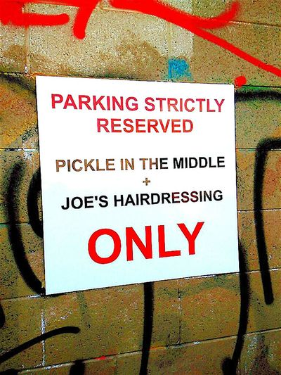 Text Joe's Barber Joe'sHairdressing Pickleinthemiddle Check This Out No People Sign Permit Only No Parking Signs Reserved Parking Pickle In The Middle Parking Sign Signstalkers Parkingarea Parking Area Car Parking Signs Signs Everywhere Signs Car Park Signporn Signage SignsSignsAndMoreSigns Sign, Sign, Everywhere A Sign Signs, Signs, & More Signs SignSignEverywhereASign Joe's Hairdressing Reserved Parking Finding A Parking Spot Permit Parking Only