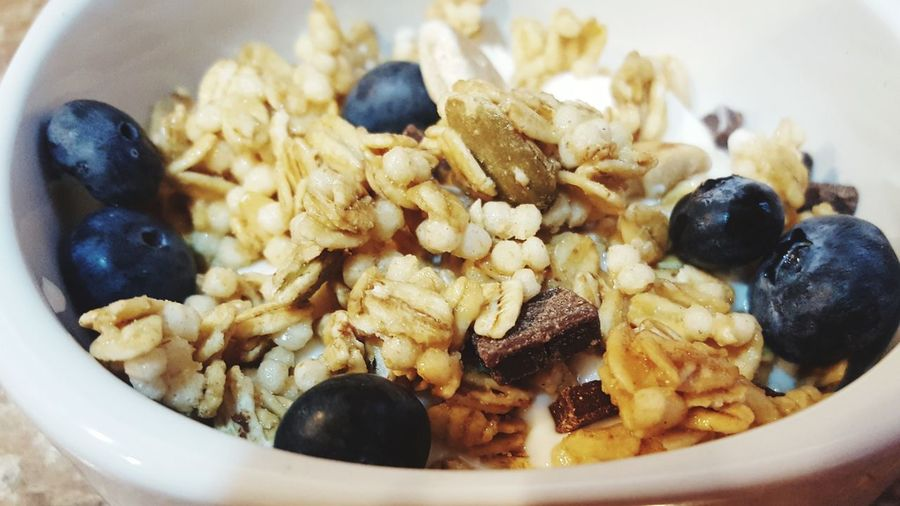 Close-Up Of Breakfast In Bowl