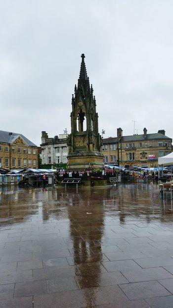 Mansfield, UK Mansfieldtowncentre Nottinghamshire Rainy Summer2016 Monument England English Town