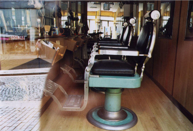 Barber Barber Chair Barbershop Film Filmisnotdead Interior Reflection Shop Window Sitting