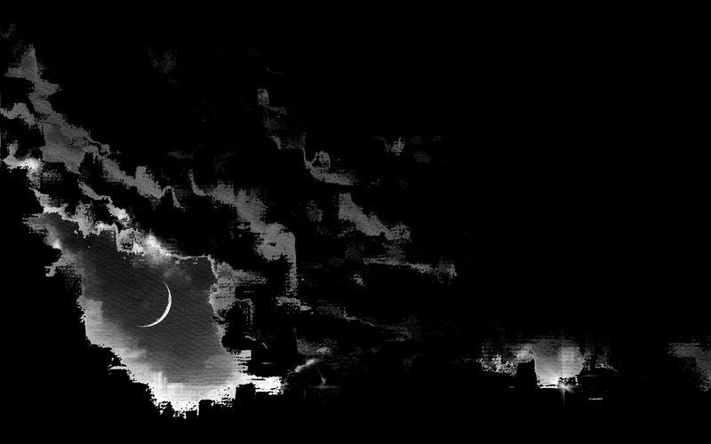 Freestyle Monochrome Variation Moon City La Nuit Est Une Femme à Barbe Art, Drawing, Creativity