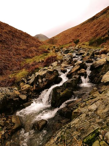 Buttermere mountain walk Landscape Scenics Nature Water Travel Destinations Waterfall Outdoors