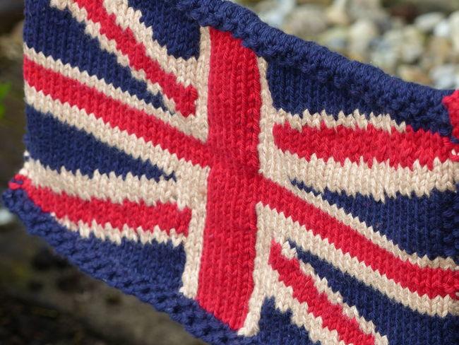 Union Jack Knitted Bunting Union Jack Flag Knitted Union Jack Fabric Texture Knitting