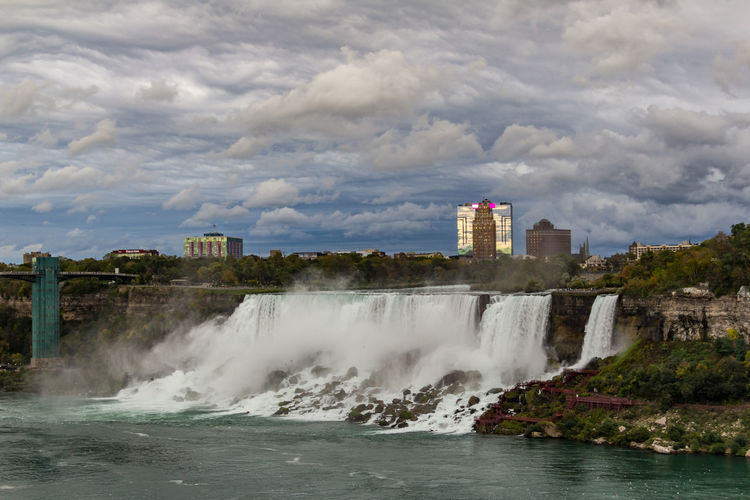 Skyline American Falls Niagara Niagara Falls American Sid Niagara Falls Architecture Beautifel Sky Beauty In Nature Building Exterior Built Structure Cloud - Sky Day Motion Nature No People Outdoors Power In Nature Sky Water Waterfall Waterfront