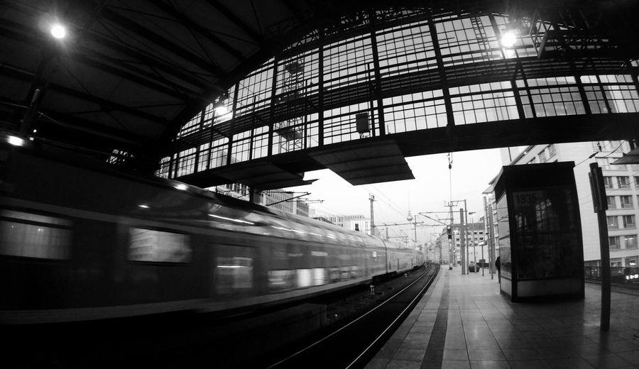 Train at railroad station