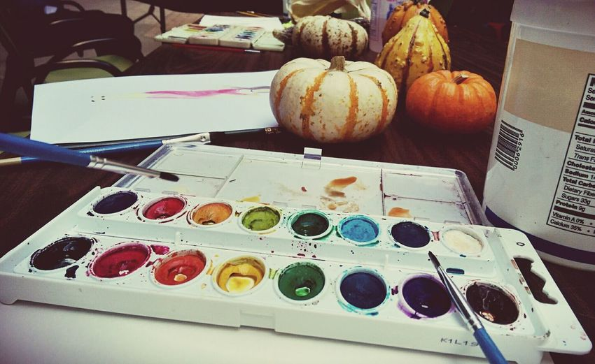 watercolor workshop with CAED librarian! relax and draw something~ Watercolor Relaxing Time Funoutsideofclass