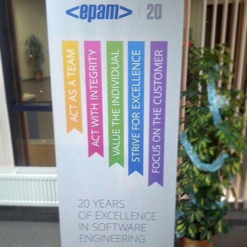 Совсем забыл, недавно Epam отмечал двадцатилетие
