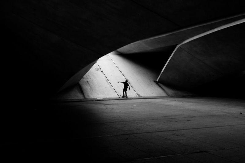 Skate People Photography Shillouette Streetphotography Monochrome Blackandwhite Negative Space People Skateboarding